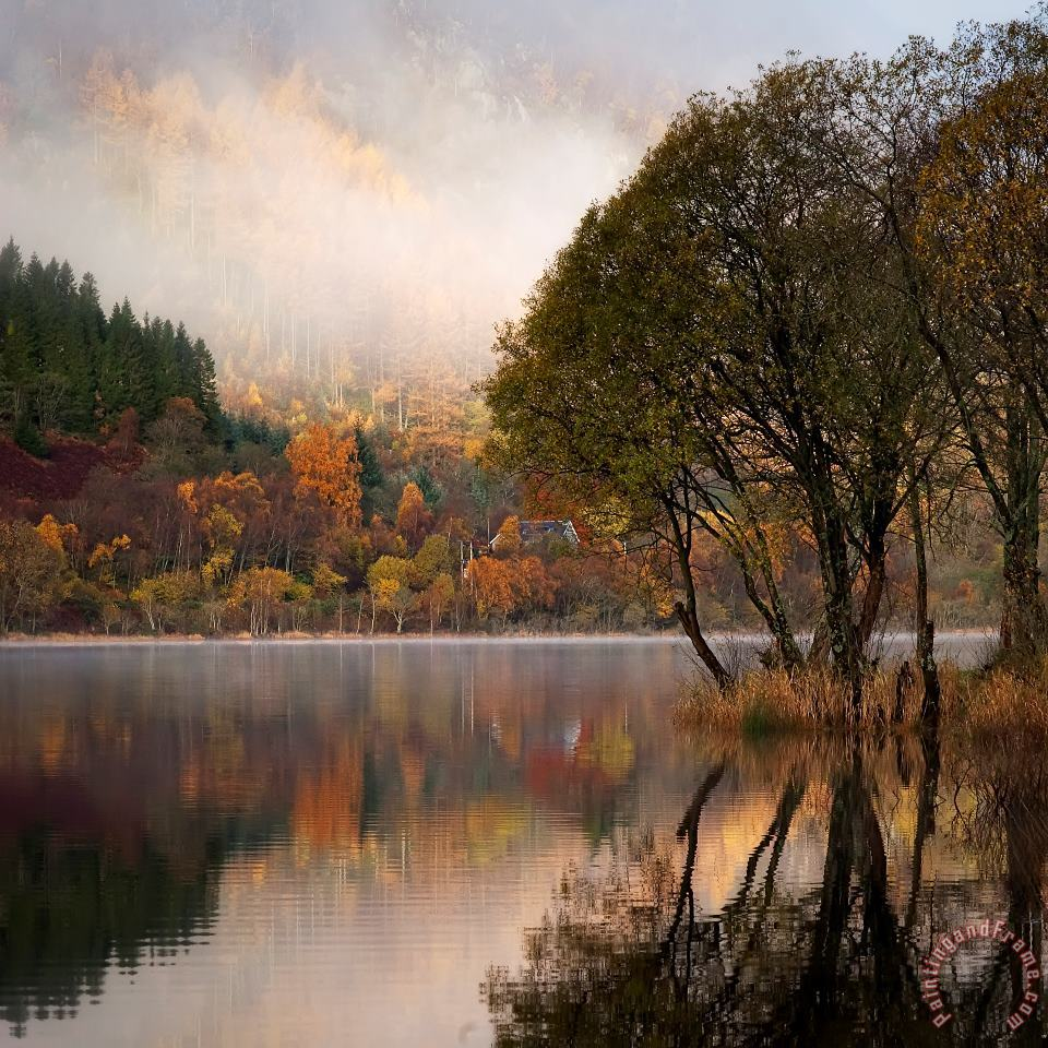 Loch Lubnaig Trossachs Scotland painting - Collection Loch Lubnaig Trossachs Scotland Art Print