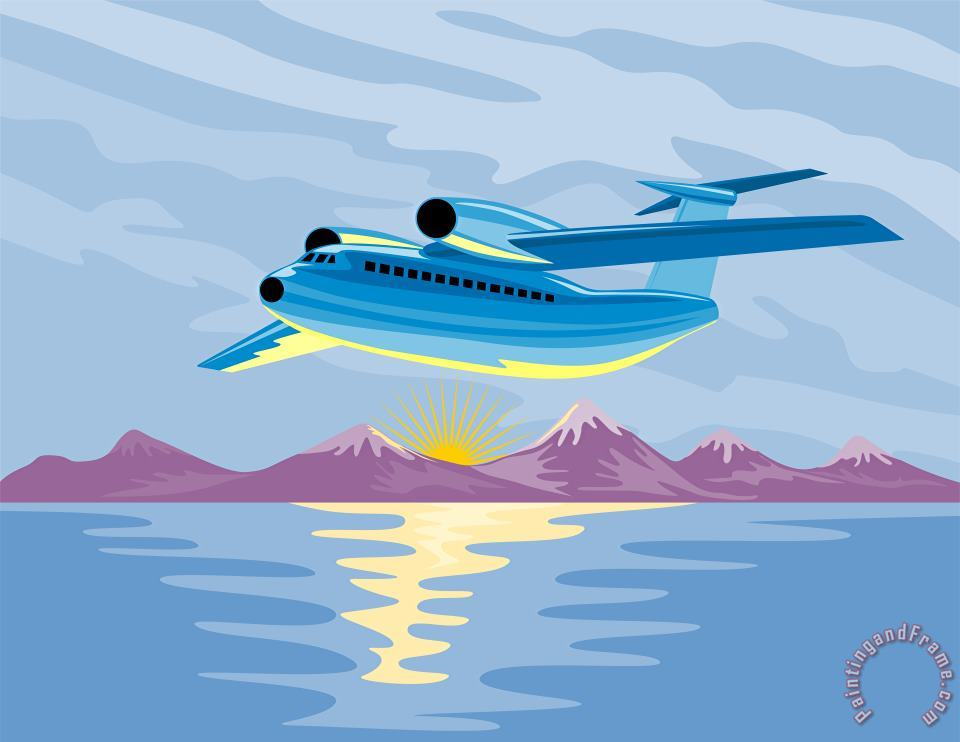Collection 10 Turbo Jet Plane Retro Art Print
