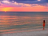 Beach Girl and Sunset by Collection 14