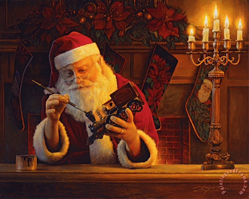 Collection 2 Christmas Eve Touch Up Art Painting