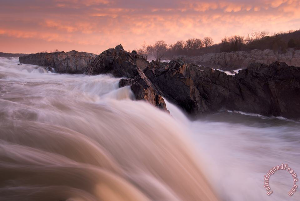 Collection 3 First Light Great Falls Art Print