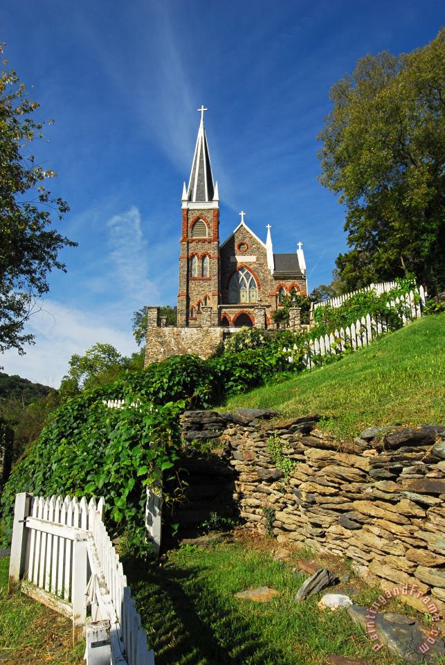 Collection 3 Historic Stone Church Harper's Ferry Art Print