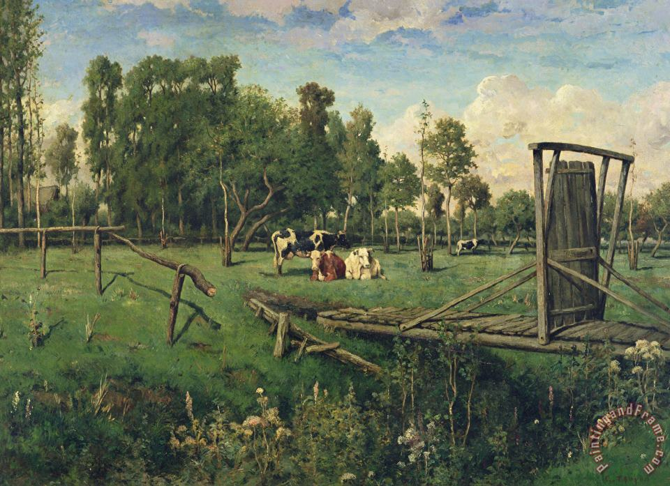 Constant-Emile Troyon A Pasture in Normandy Art Painting