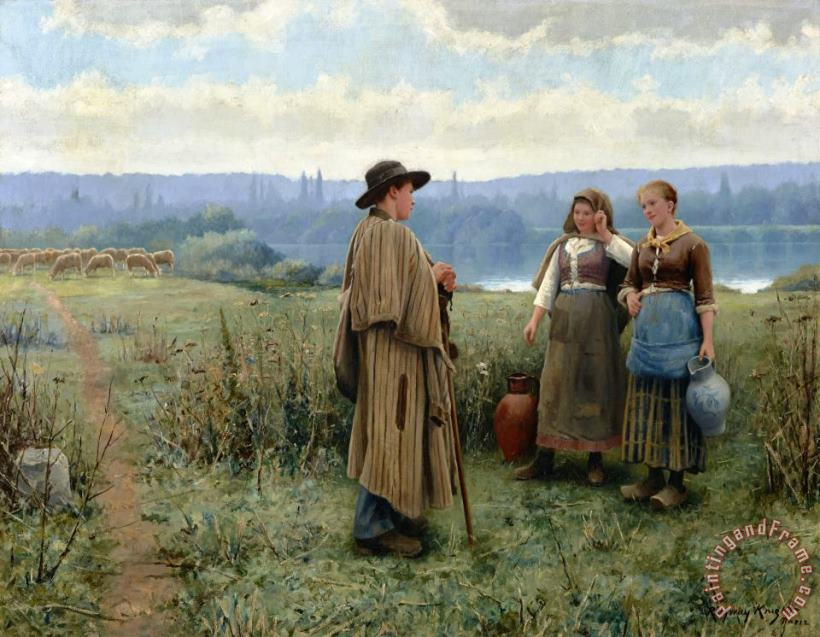 An Idle Moment painting - Daniel Ridgway Knight An Idle Moment Art Print