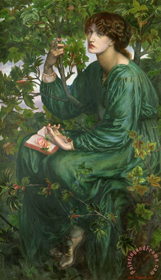 Dante Charles Gabriel Rossetti Day Dream Art Painting