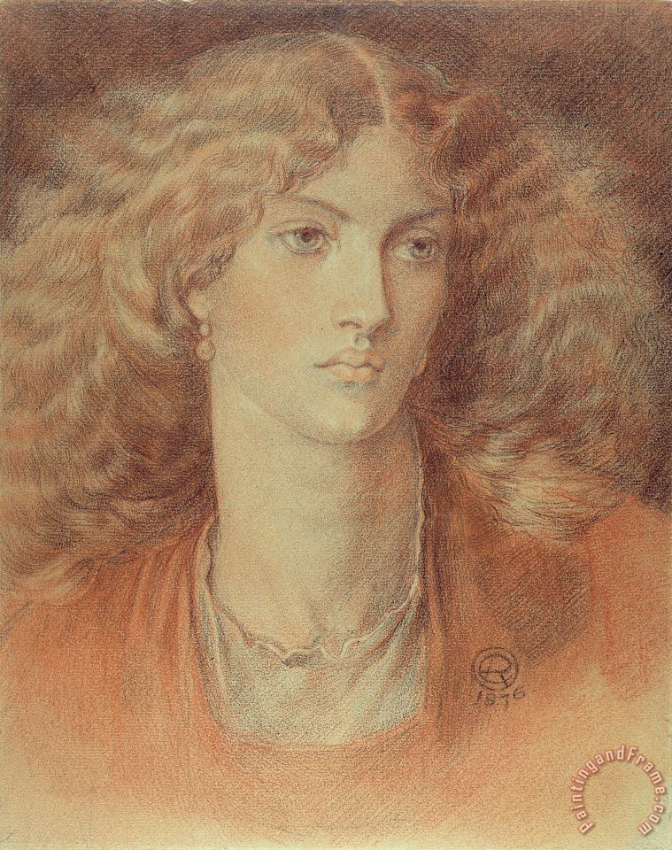 Head Of A Woman Called Ruth Herbert painting - Dante Charles Gabriel Rossetti Head Of A Woman Called Ruth Herbert Art Print
