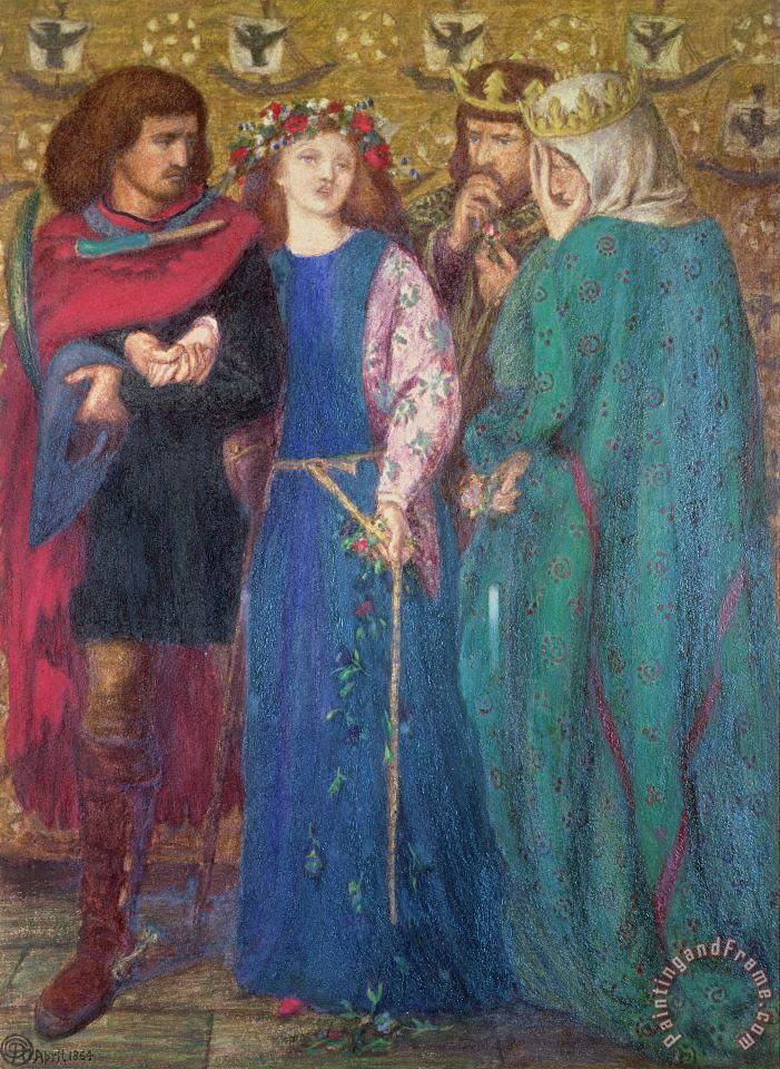 Dante Charles Gabriel Rossetti  Horatio Discovering the Madness of Ophelia Art Print