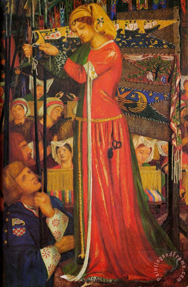 Before The Battle painting - Dante Gabriel Rossetti Before The Battle Art Print