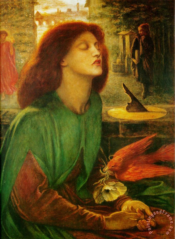Blessed Beatrice painting - Dante Gabriel Rossetti Blessed Beatrice Art Print