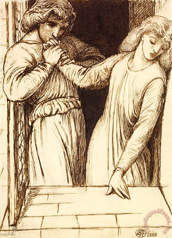Dante Gabriel Rossetti Hamlet And Ophelia Art Painting