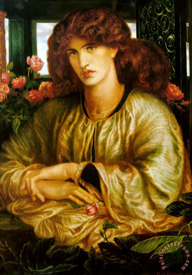 The Lady of The Window painting - Dante Gabriel Rossetti The Lady of The Window Art Print