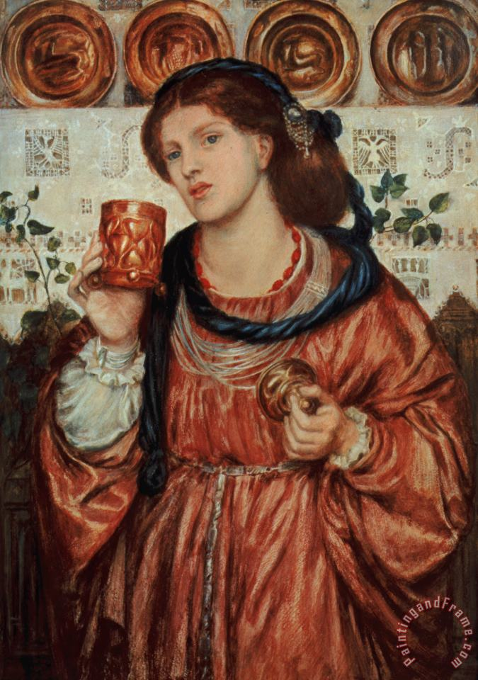 The Loving Cup painting - Dante Gabriel Rossetti The Loving Cup Art Print