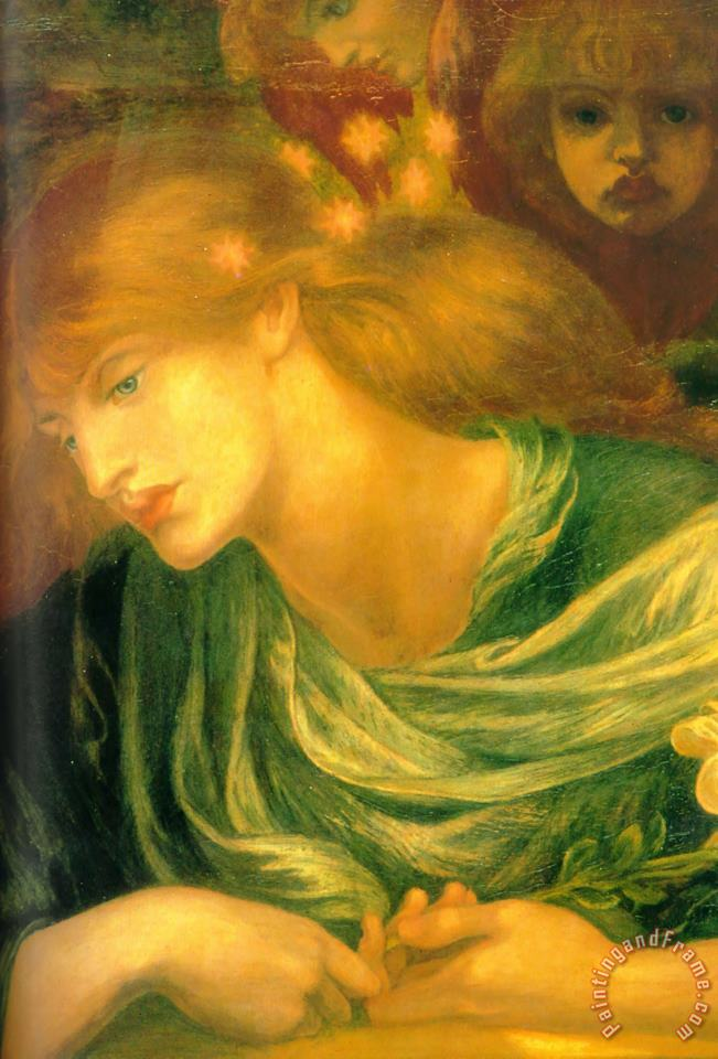 Unknown painting - Dante Gabriel Rossetti Unknown Art Print