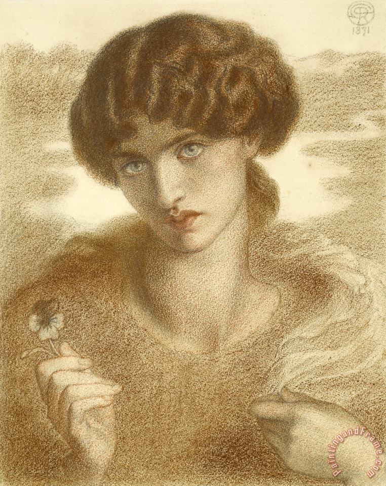 Water Willow painting - Dante Gabriel Rossetti Water Willow Art Print