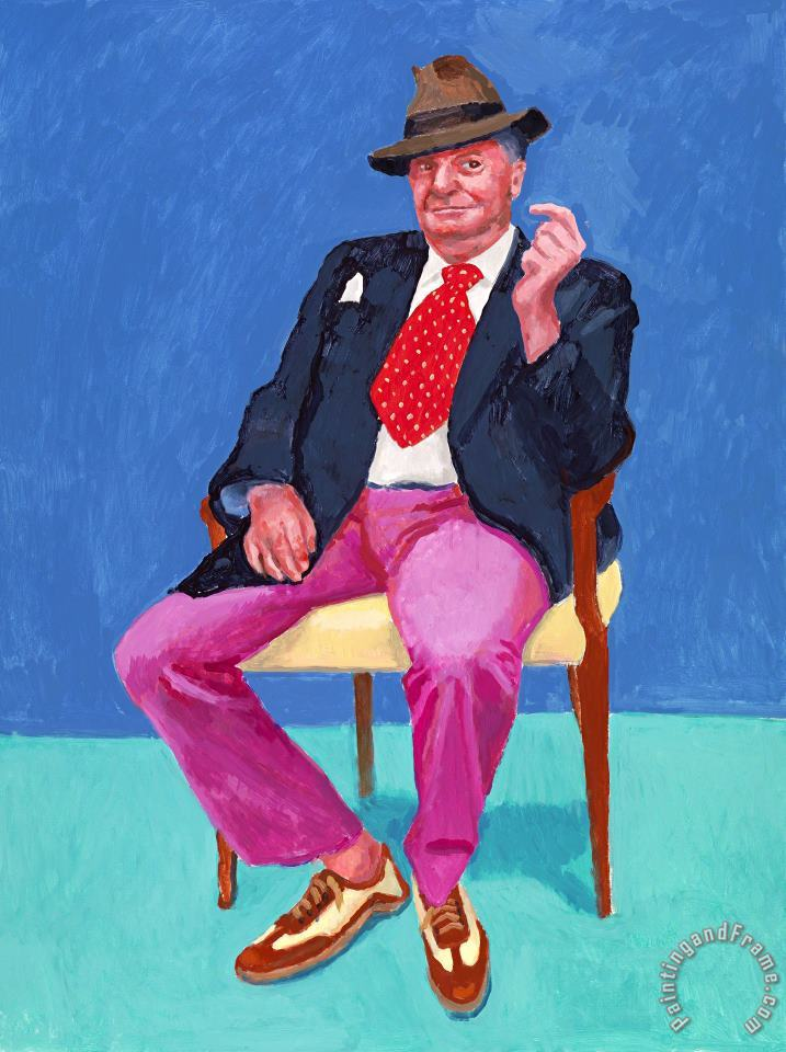 Barry Humphries, 2015 painting - David Hockney Barry Humphries, 2015 Art Print