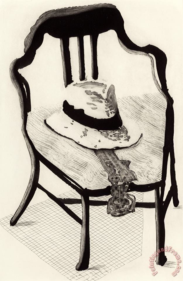 Hat on a Chair (from The Geldzahler Portfolio) painting - David Hockney Hat on a Chair (from The Geldzahler Portfolio) Art Print