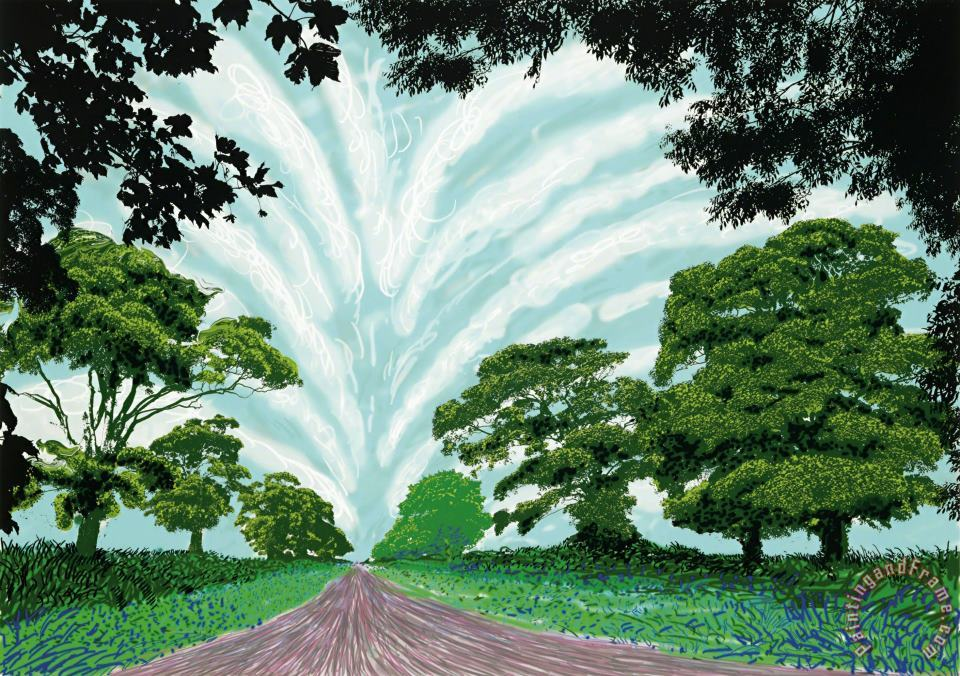 Summer Sky, 2008 painting - David Hockney Summer Sky, 2008 Art Print