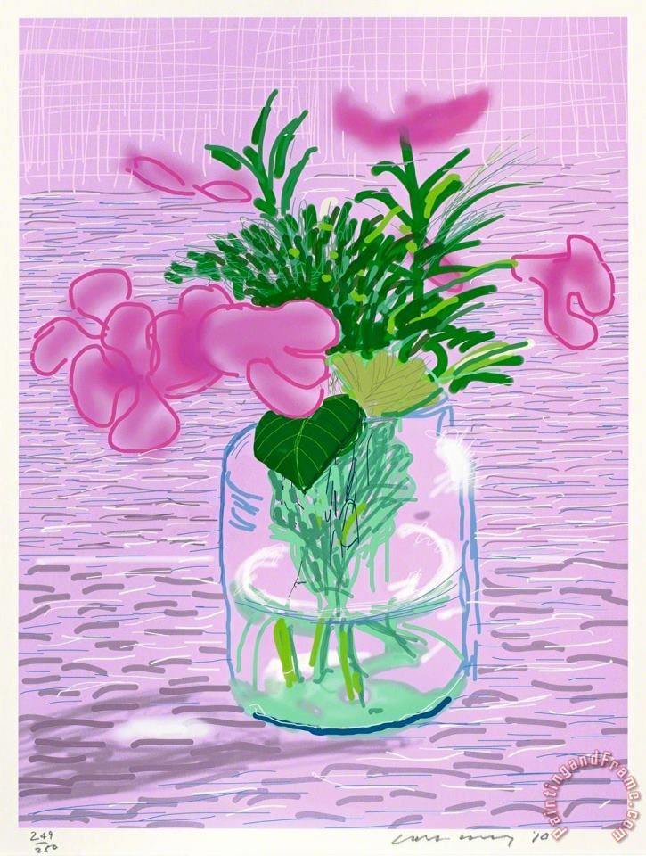 Untitled No. 329, 2010 2016 painting - David Hockney Untitled No. 329, 2010 2016 Art Print