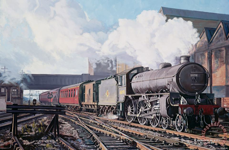 A 'thompson' B1 Class Moving Empty Stock On A Cold February Morning painting - David Nolan A 'thompson' B1 Class Moving Empty Stock On A Cold February Morning Art Print