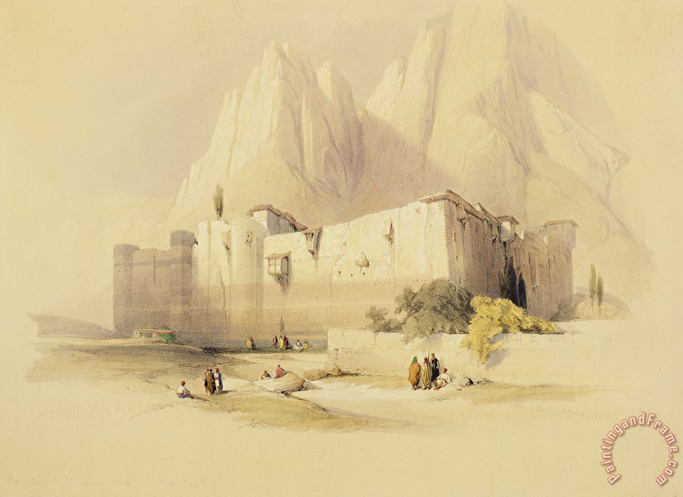 The Convent Of St. Catherine painting - David Roberts The Convent Of St. Catherine Art Print