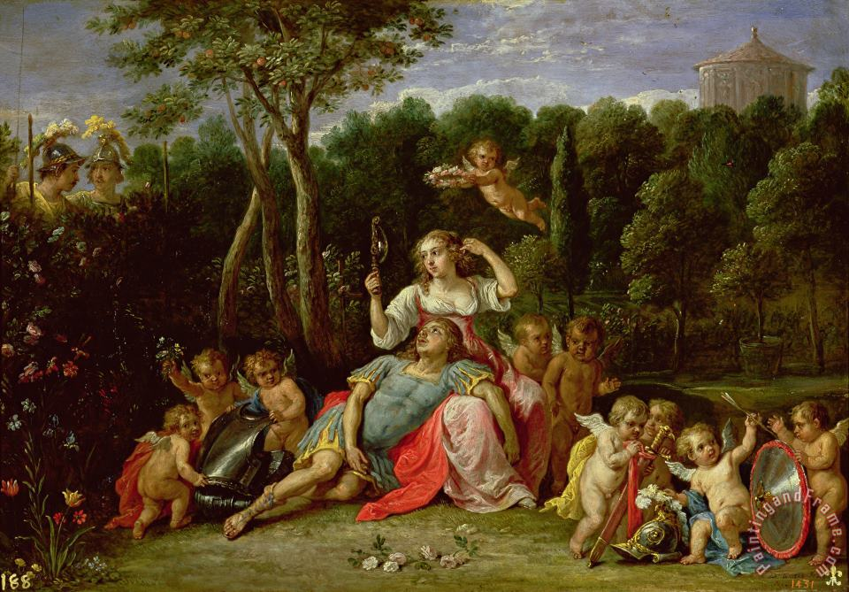 The Garden of Armida painting - David the younger Teniers The Garden of Armida Art Print