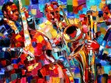 Bold Jazz Trio by Debra Hurd