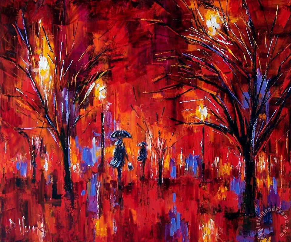 Deep Red painting - Debra Hurd Deep Red Art Print