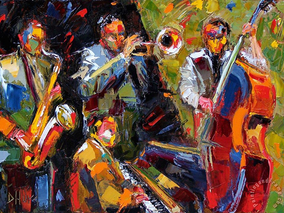 Hot Quartet painting - Debra Hurd Hot Quartet Art Print