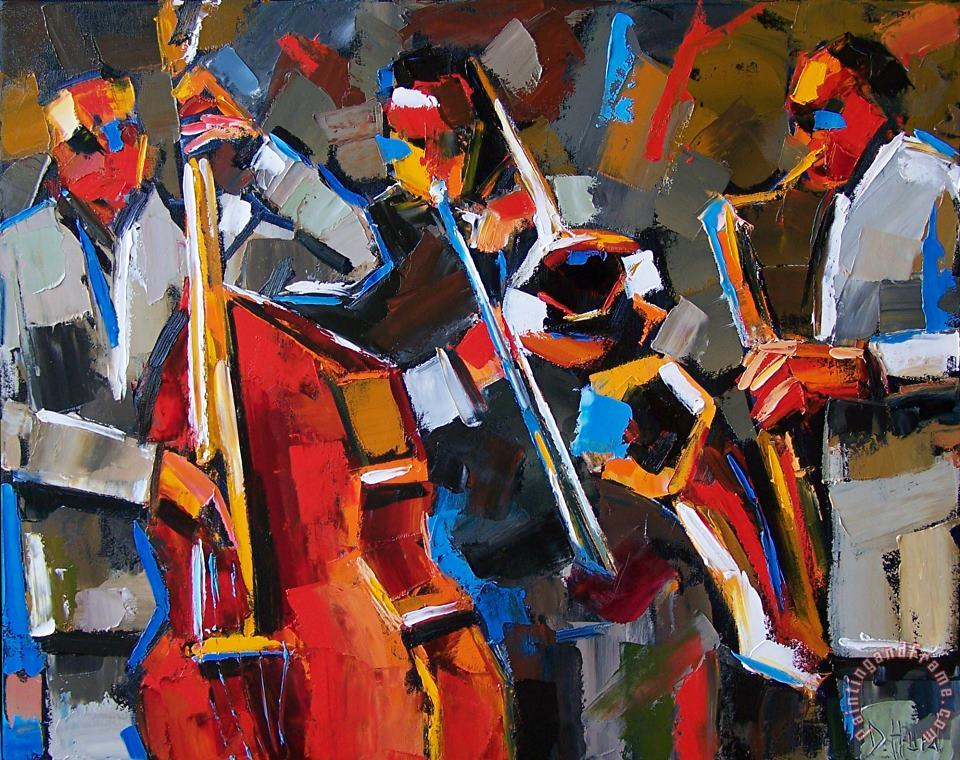Jazz Angles painting - Debra Hurd Jazz Angles Art Print