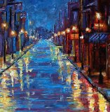 New Orleans Bourbon Street by Debra Hurd