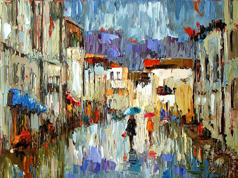Tourists painting - Debra Hurd Tourists Art Print