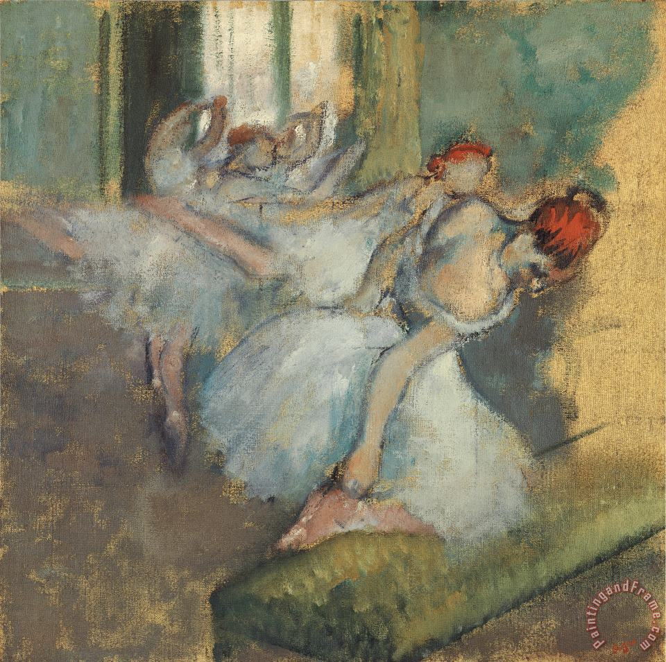 Ballet Dancer painting - Degas Ballet Dancer Art Print