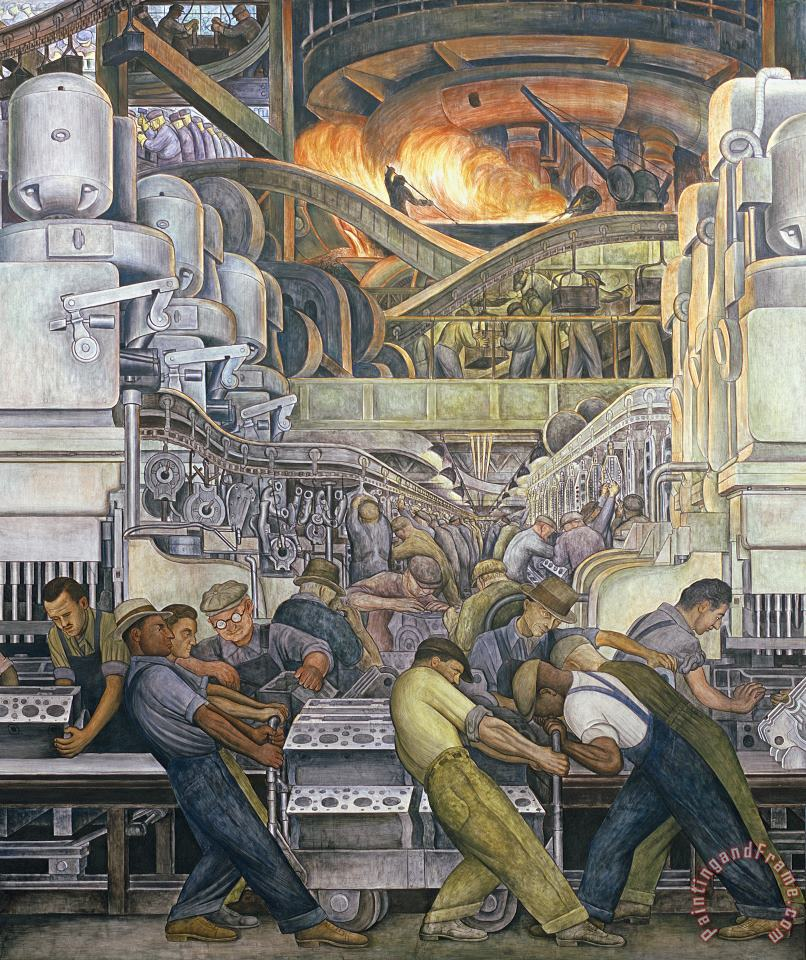 Diego Rivera Detroit Industry North Wall Art Painting