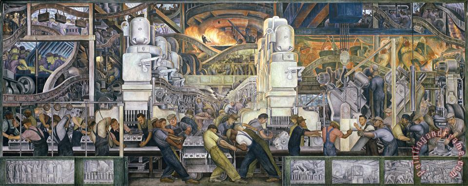 Detroit Industry   North Wall painting - Diego Rivera Detroit Industry   North Wall Art Print