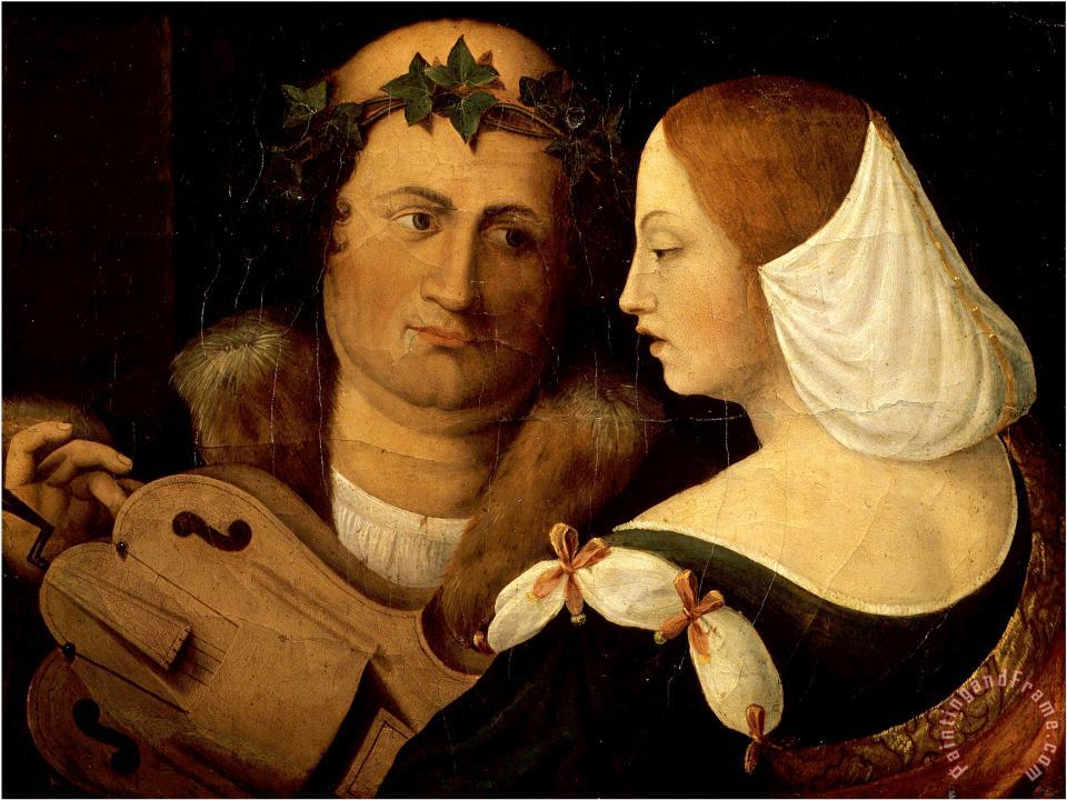 Dosso Dossi Court Poet And Young Woman Early 16th Century Art Painting