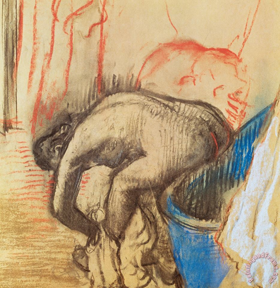 Edgar Degas After Bath Art Painting
