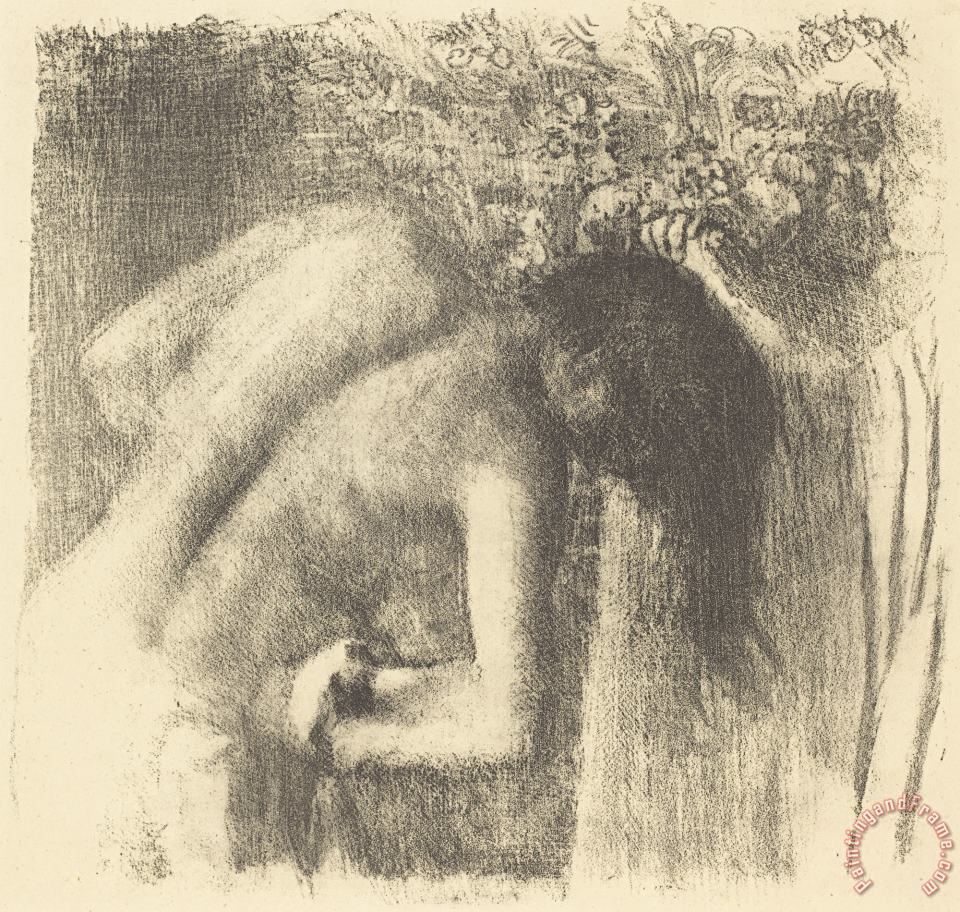 After The Bath (la Sortie Du Bain (grand Planche)) painting - Edgar Degas After The Bath (la Sortie Du Bain (grand Planche)) Art Print