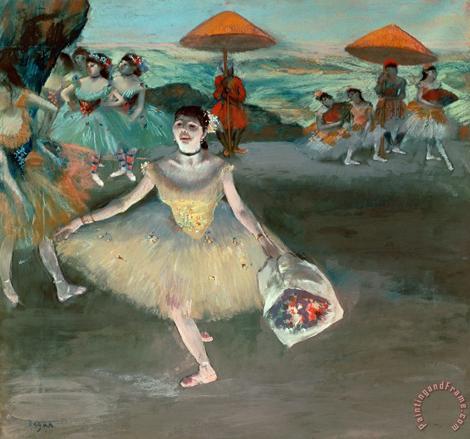 Dancer with Bouquet painting - Edgar Degas Dancer with Bouquet Art Print
