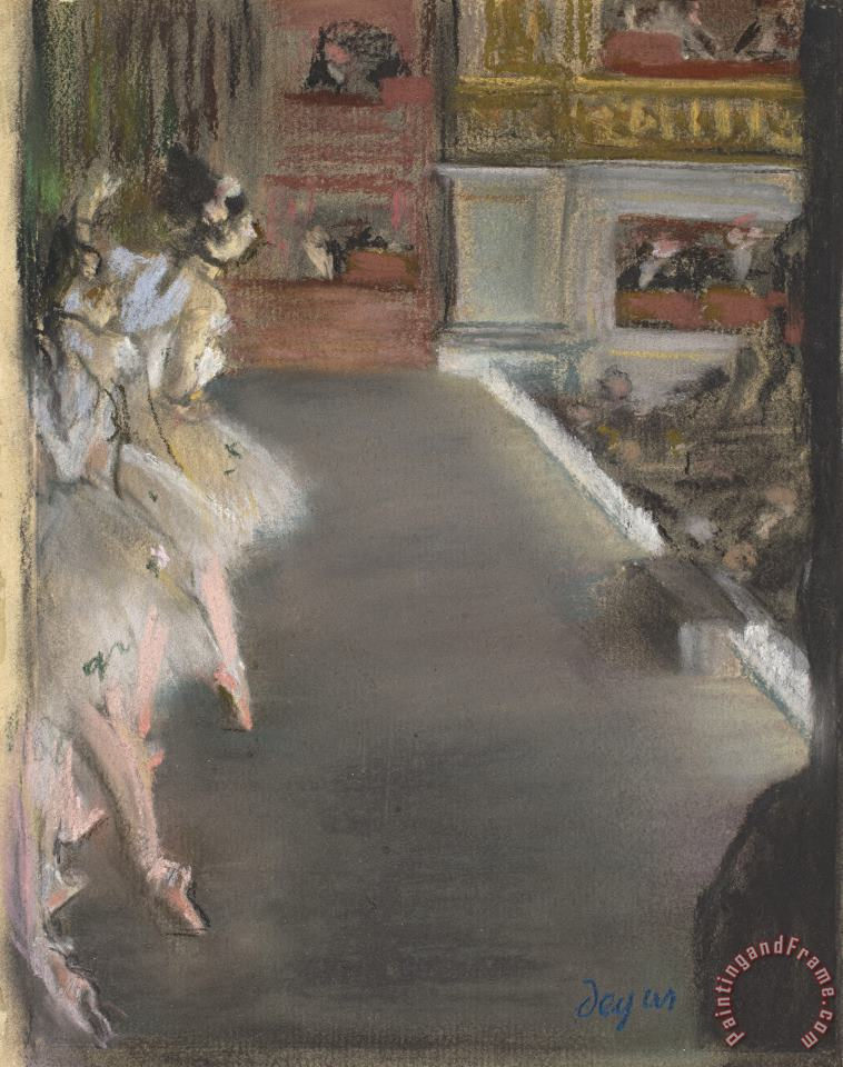 Dancers at The Old Opera House painting - Edgar Degas Dancers at The Old Opera House Art Print