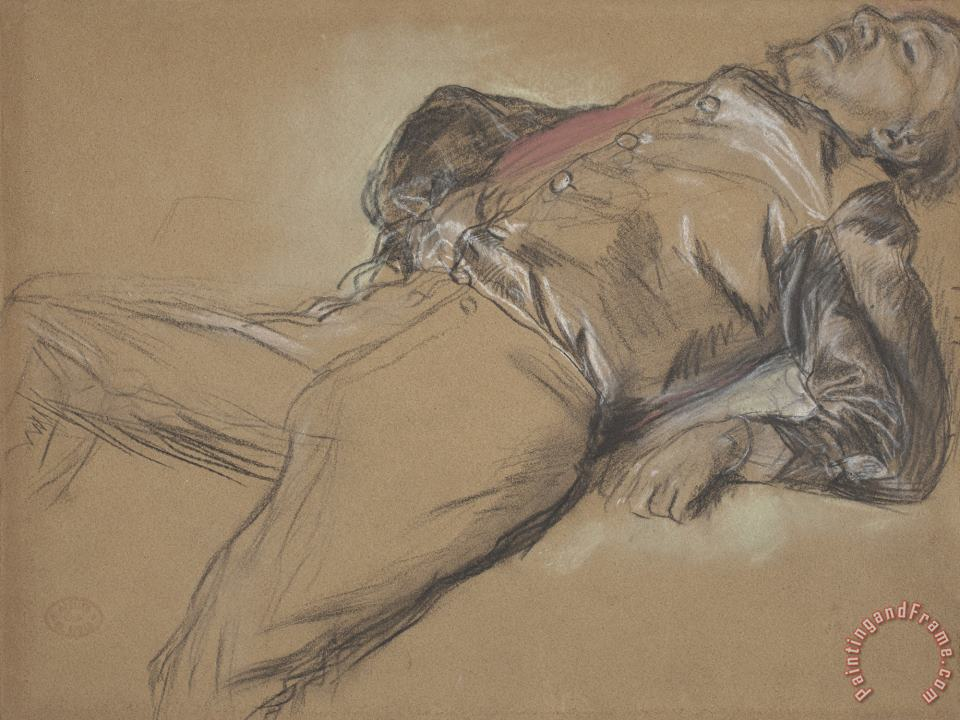 Edgar Degas Fallen Jockey (study for