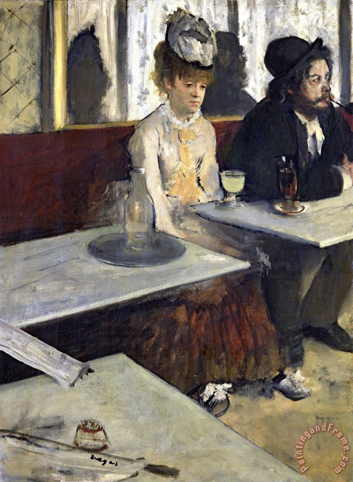 In a Cafe, Or The Absinthe painting - Edgar Degas In a Cafe, Or The Absinthe Art Print