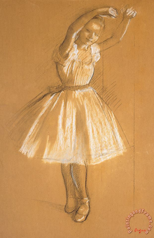 Little Dancer painting - Edgar Degas Little Dancer Art Print