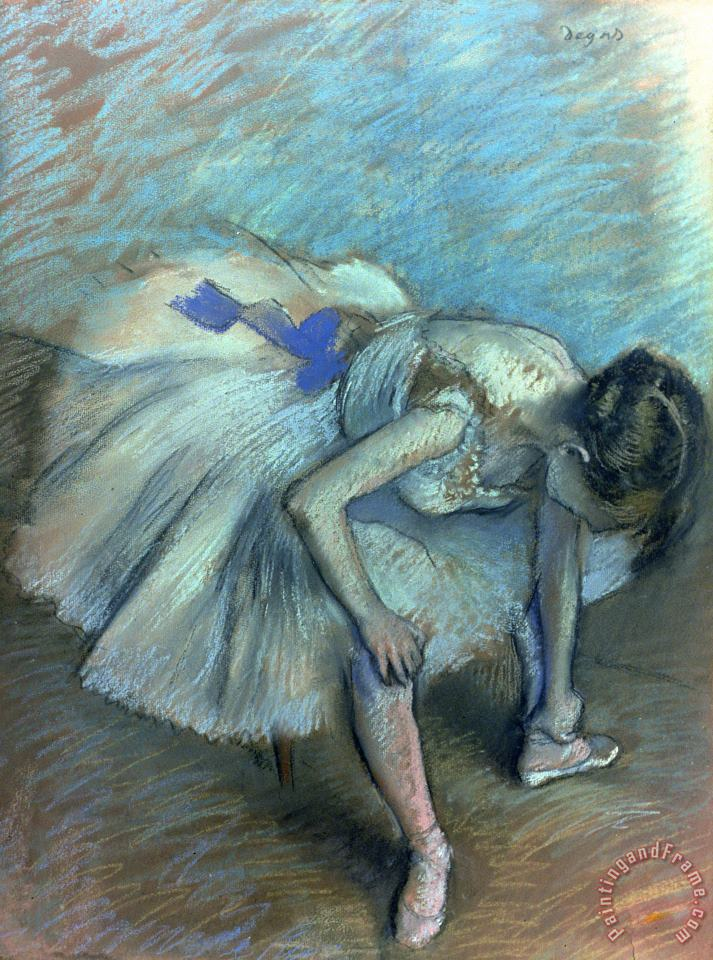 Seated Dancer painting - Edgar Degas Seated Dancer Art Print