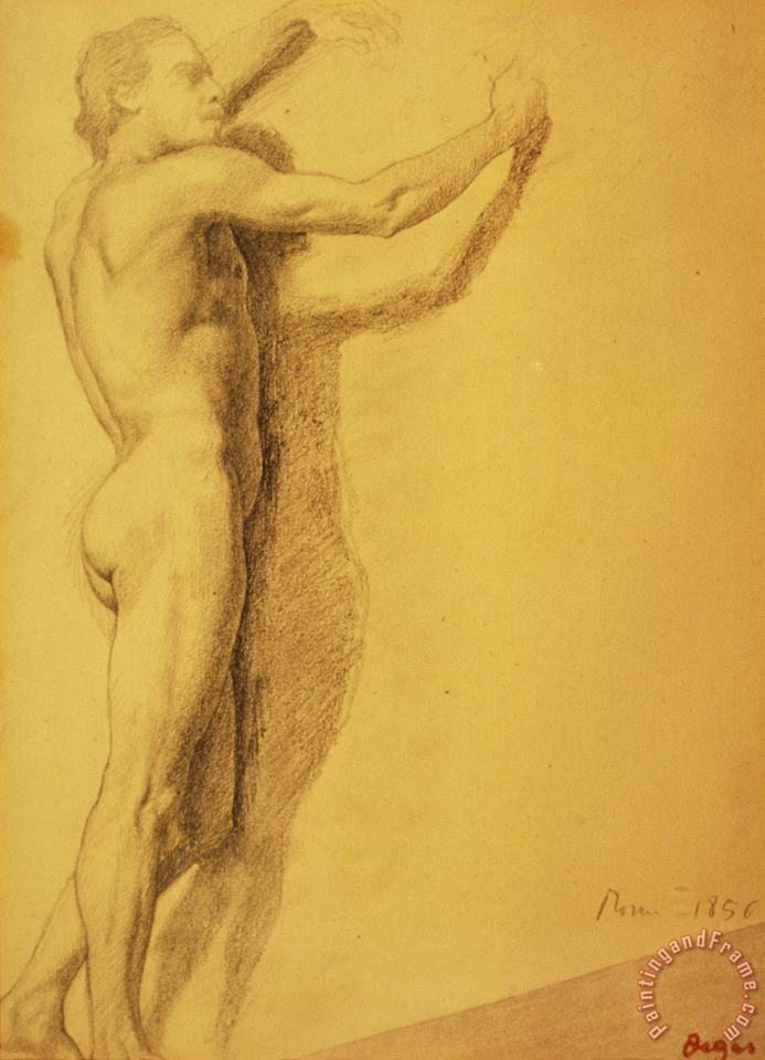 Study of a Male Nude painting - Edgar Degas Study of a Male Nude Art Print
