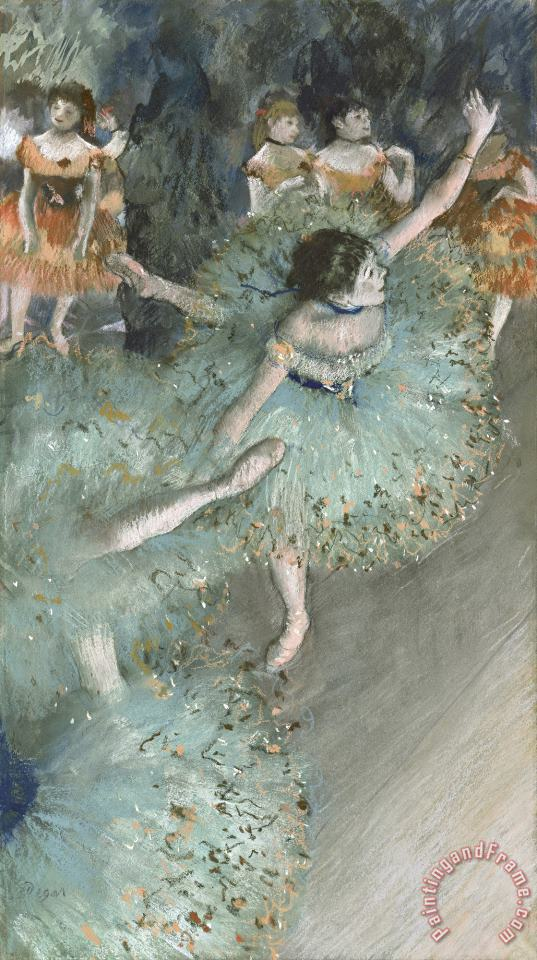 Swaying Dancer (dancer in Green) painting - Edgar Degas Swaying Dancer (dancer in Green) Art Print