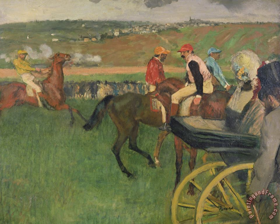 Edgar Degas The Race Course Art Print