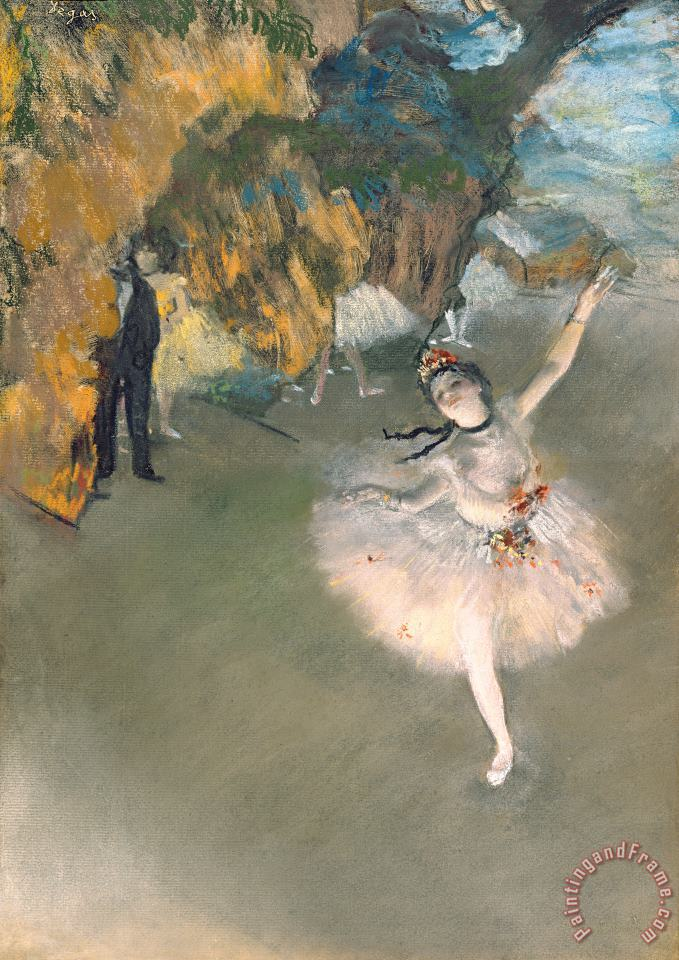 Edgar Degas The Star Or Dancer On The Stage Art Print