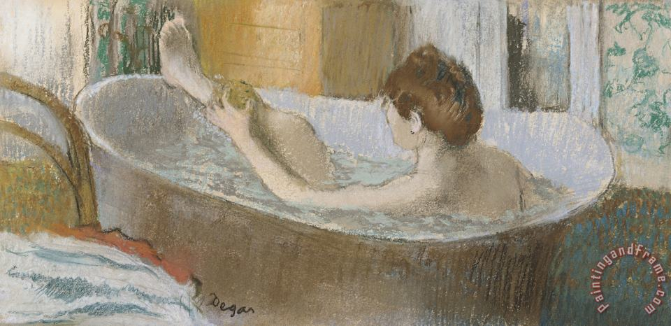 Edgar Degas Woman in her Bath Art Painting