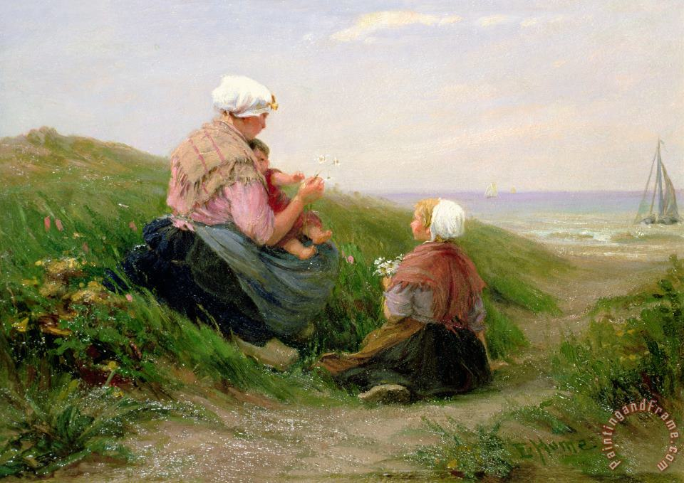 A Mother and her Small Children painting - Edith Hume A Mother and her Small Children Art Print