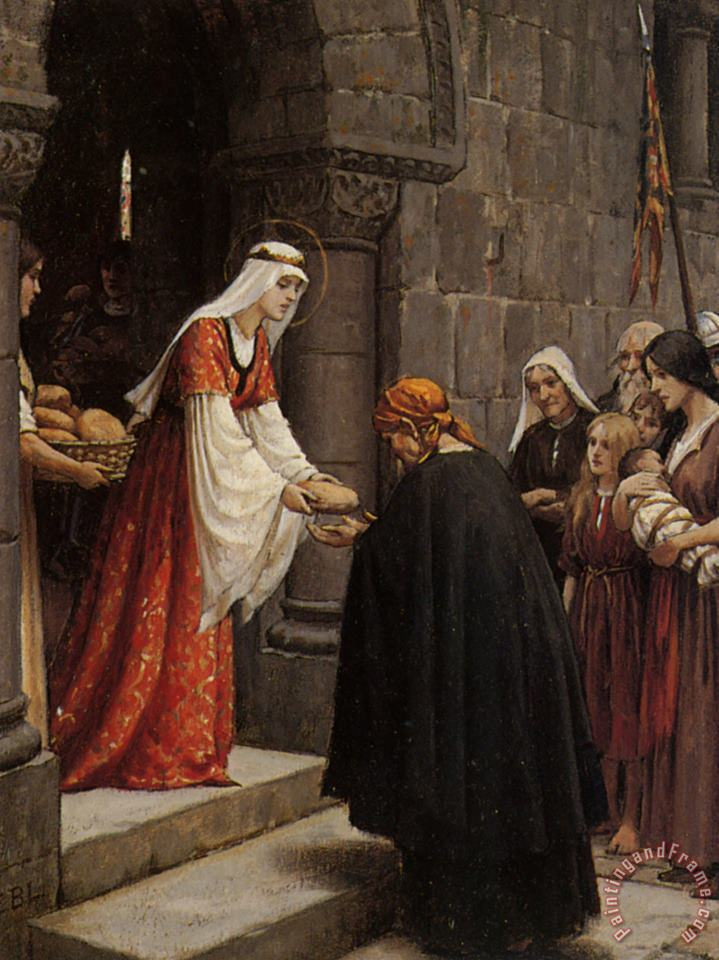 Edmund Blair Leighton Study for The Charity of Saint Elizabeth of Hungary Art Print